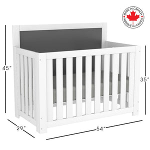 Harley 5-in-1 Convertible Crib | White + Grey