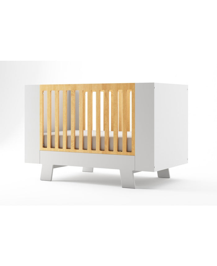 Dutailier Convertible Crib Pomelo | White + Natural