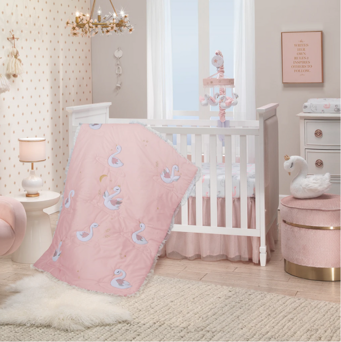 3-Piece Bedding | Pink Swan