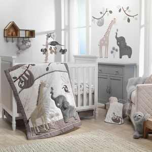 4-Piece Bedding Set | Jungle Animals