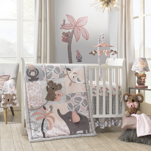 4-Piece Bedding Set | Friendly Koala, Elephant & Monkey