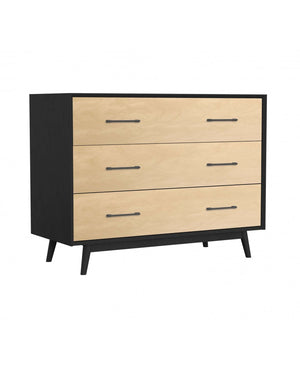 Lollipop 3-Drawer Dresser | Black + Natural
