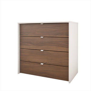 Caspian III 4-Drawer Changer | Walnut + White