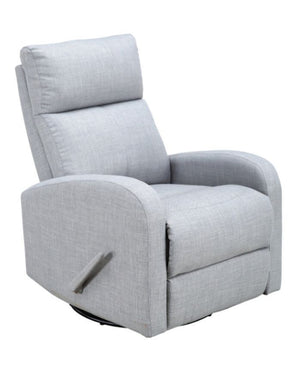 Belgium Baby Fabric Swivel Glider Recliner | Grey