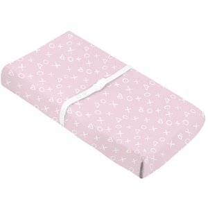 Kushies Changing Pad Cover | Pink XO<3