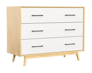 Dutailier Lollipop 3-Drawer Dresser | Natural + White