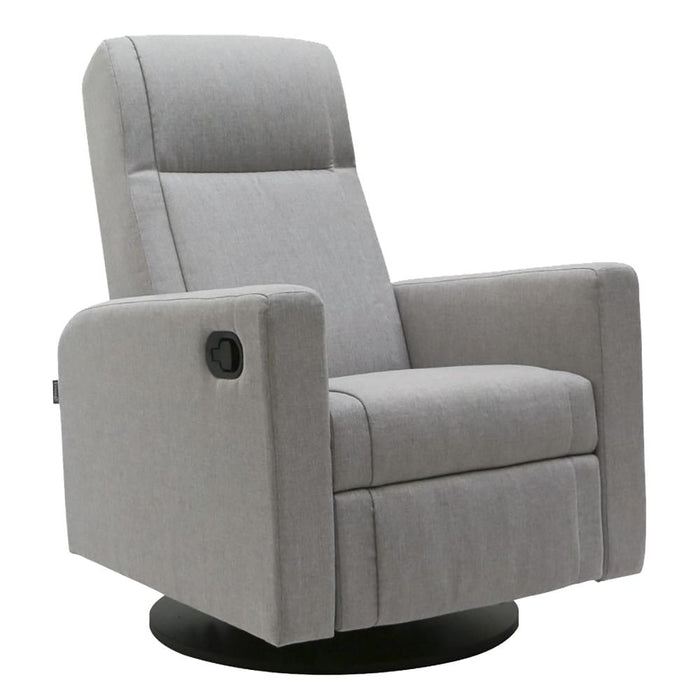 Dutailier LULA Swivel Glider - Matte Black Finish with Grey Fabric