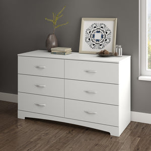 Levie 6-Drawer Dresser | White