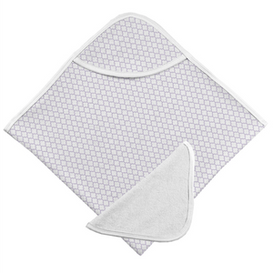Hooded Bath Towel & Washcloth Set | Lilac Ornament