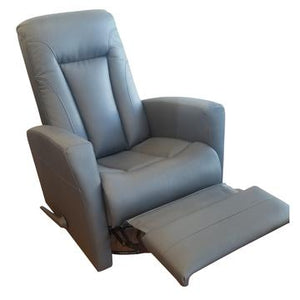 Swivel Glider Recliner Adrianne | Dark Grey Leather