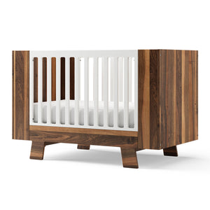 Dutailier Pomelo 3-in-1 Crib | Natural Walnut + White