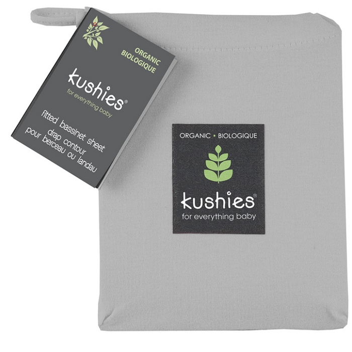 Kushies | Organic Jersey Bassinet Sheet Grey