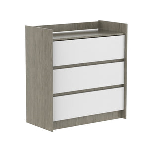 Oxford 3-Drawer Changer | White + Light Grey