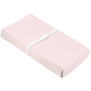 KUSHIES Organic Jersey Change Pad Fitted Sheet | Pink