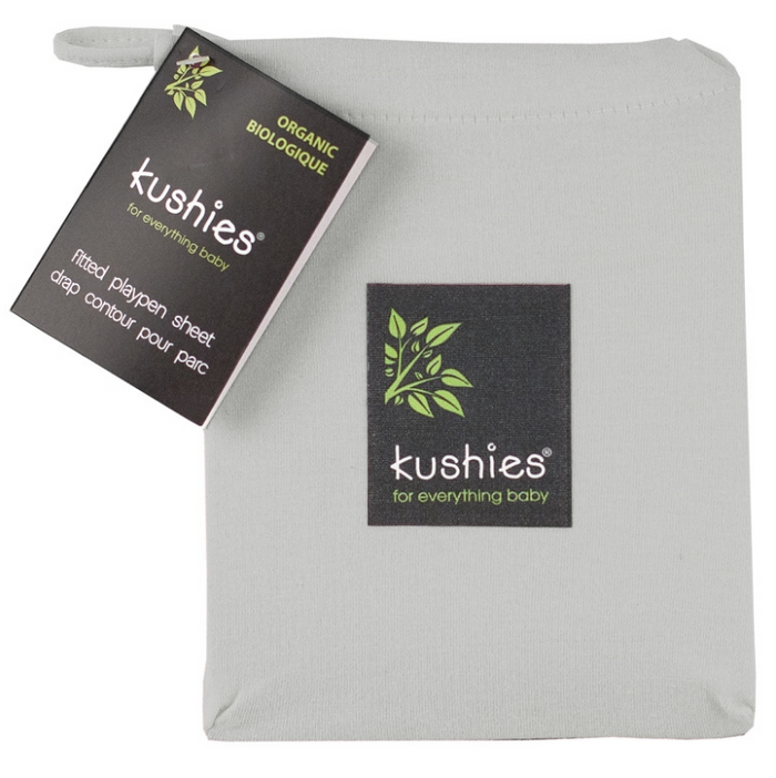Kushies | Organic Jersey Playpen Sheet Grey