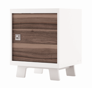 Dutailier  Pomelo Nightstand | White + Walnut