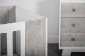 Pomelo Collection | White + Rustic Grey - Crib Only