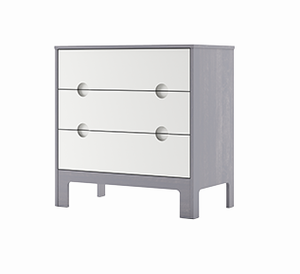 Dutailier Cupcake 3-Drawer Dresser | White + Grey