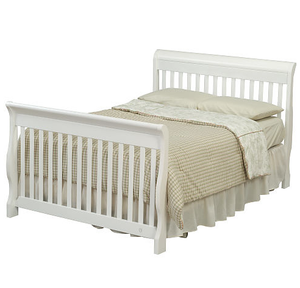 Joanie Convertible Crib Transformed into a Double Bed