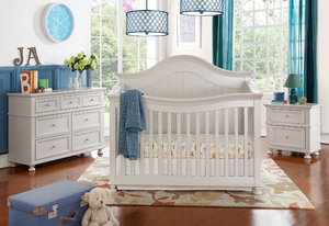 Lea 4-1 Convertible Crib | White