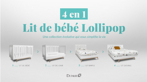 Dutailier Lollipop 4-in-1 Crib