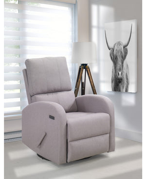 Valeria Swivel Glider with USB | Beige