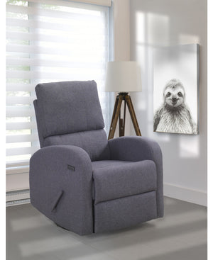 Valeria Swivel Glider with USB | Grey