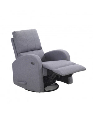 Valeria Swivel Glider with USB | Light Grey