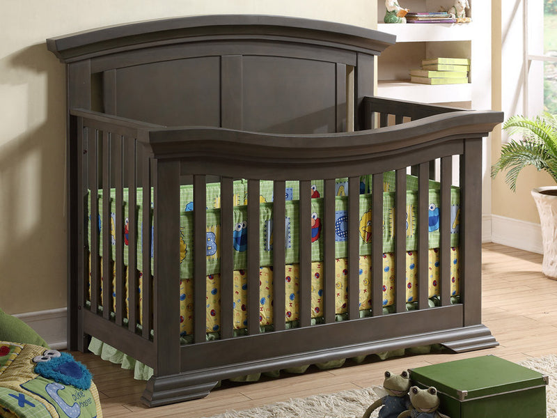 Gracie Convertible Crib - Dark Grey