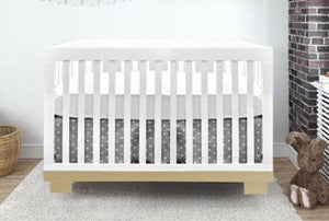 Caspian 4-1 Convertible Crib | White + Natural