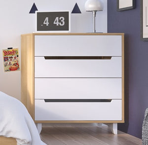 Caspian II 4-Drawer Changer | White & Natural