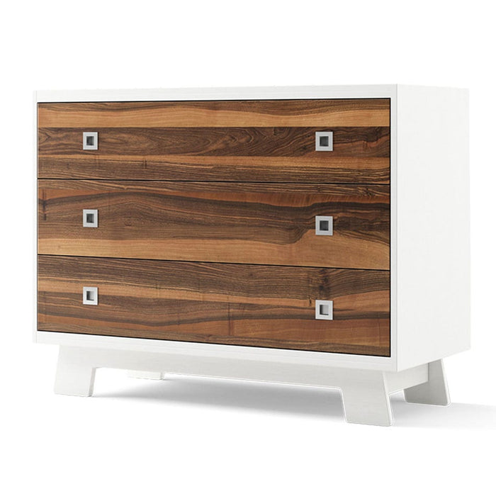Dutailier Pomelo 3-Drawer Dresser | White + Natural Walnut
