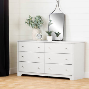 Xavier 6-Drawer Dresser | White