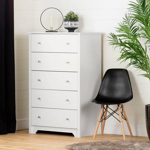 Xavier 5-Drawer Chest | White