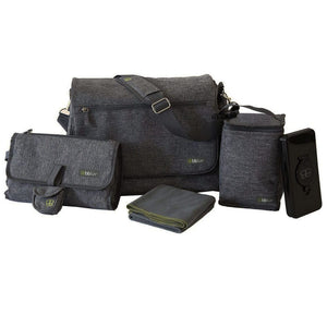 Bblüv 5-Piece Diaper Bag | Grey
