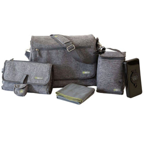 Bblüv 5-Piece Diaper Bag | Heather Grey