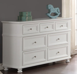Lea 7-Drawer Dresser | White