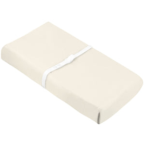 KUSHIES Organic Jersey Change Pad Fitted Sheet | Off White