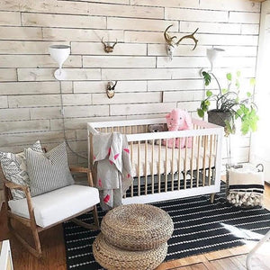 Lollie Crib | White & Natural