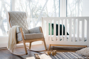 Dutailier Margot Rocking Chair | Grey + Natural