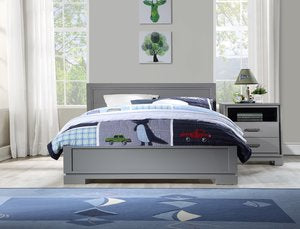 Modern Urban Juvenile & Adult Double Bed - Grey
