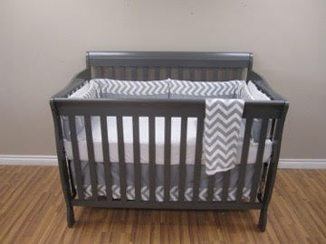 Joanie Convertible Crib | Grey