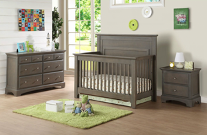 Ledger 4-in-1 Convertible Crib | Grey