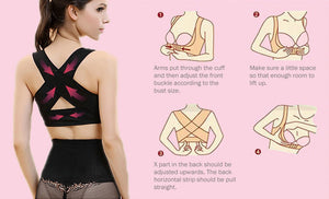 Women Chest Posture Corrector Support Belt ,  Body Shaper Corset Brace