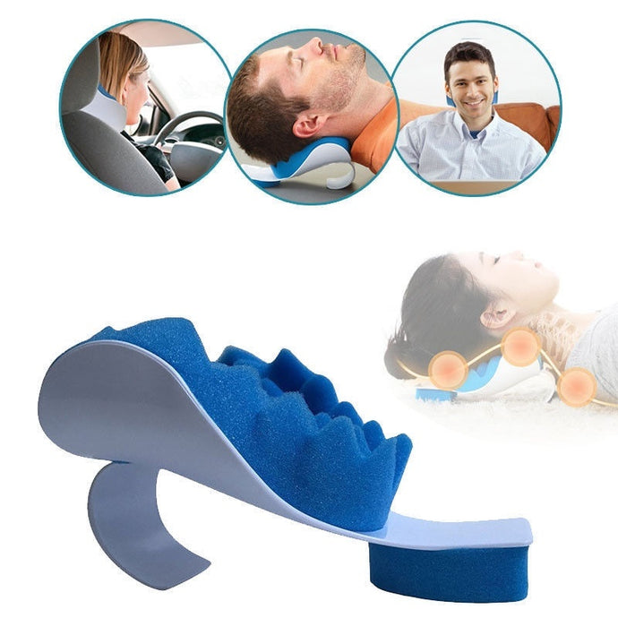 Neck Relaxer Support Pillow for Travel & Work | Neck & Head Muscle Relaxer