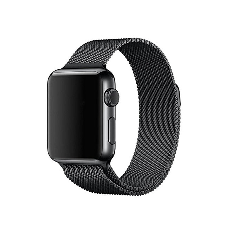 Steel Mesh Apple Watch Loop Band - Black