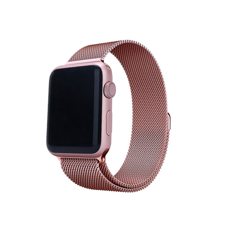 Steel Mesh Watch Loop Band - Rose Pink