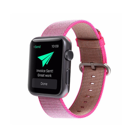 Nylon Woven Apple Watch Band - Pink
