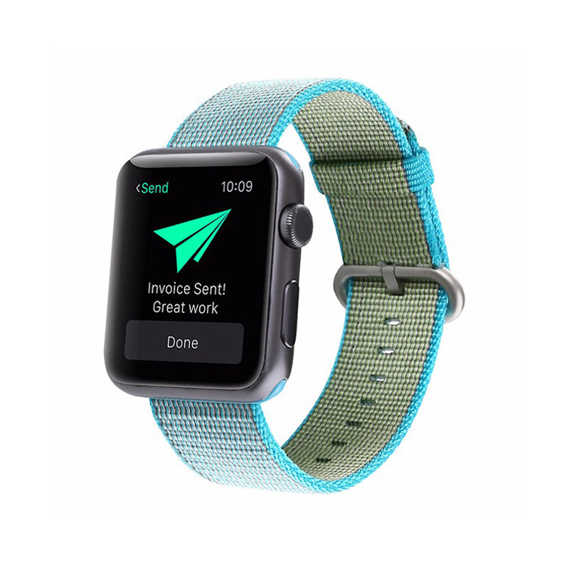 Nylon Apple Watch Band - Lake Blue
