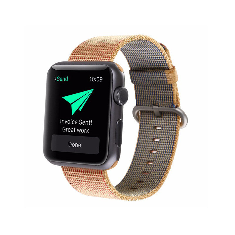 Nylon Woven Apple Watch Band - Orange